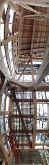 床から天井までをパノラマ撮影、小舞壁。